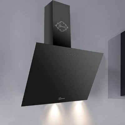 GURARI Wandhaube GCH 286 BL 6 Prime/8, Dunstabzugshaube 60cm/ Kopffreihaube/ Schwarz/ Schwarz Glas/ Effizient/ 1000m³/h/TouchControl/ Fernbedienung/ Ablufthaube/ Umlufthaube/Timer/inkl.Umluftset