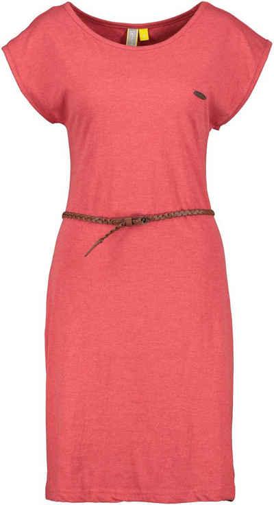 Alife & Kickin Jerseykleid »ElliAK« süßes Sommerkleid mit überschnittenen Ärmeln & kleinem Gürtel