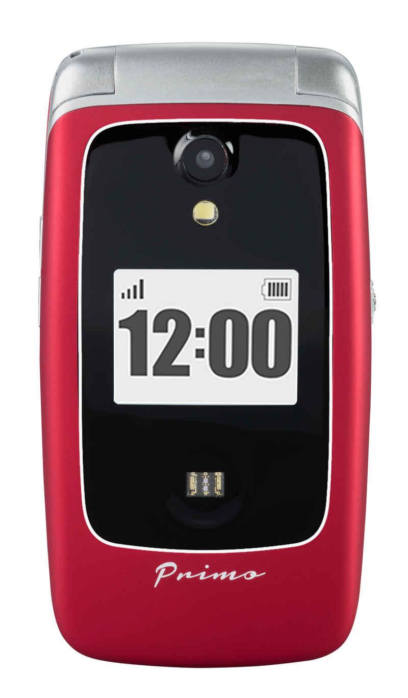 Doro Primo by DORO 418 rot Handy Seniorenhandy (7,11 cm/2.8 Zoll, 3 MP Kamera, Großtastenhandy, Klapp, GPS, Kardiomessfunktion, Sturzsensor, Indoor- & Outdoor-Ortung)