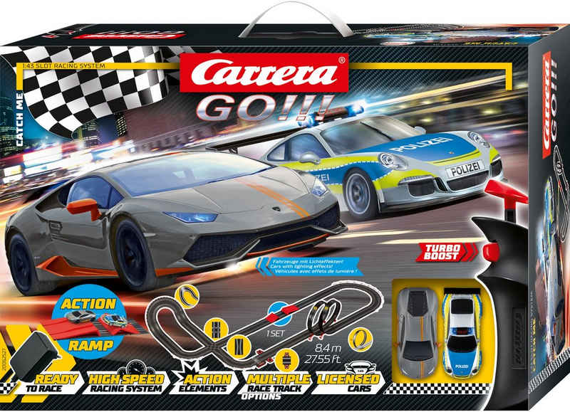 Carrera® Autorennbahn »Carrera® GO!!! - Catch me« (Streckenlänge 8,4 Meter), (Set)