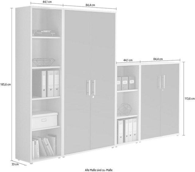 Büromöbel Sets - BMG Büro Set »TABOR 4 hoch«, (Set, 2 tlg)  - Onlineshop OTTO