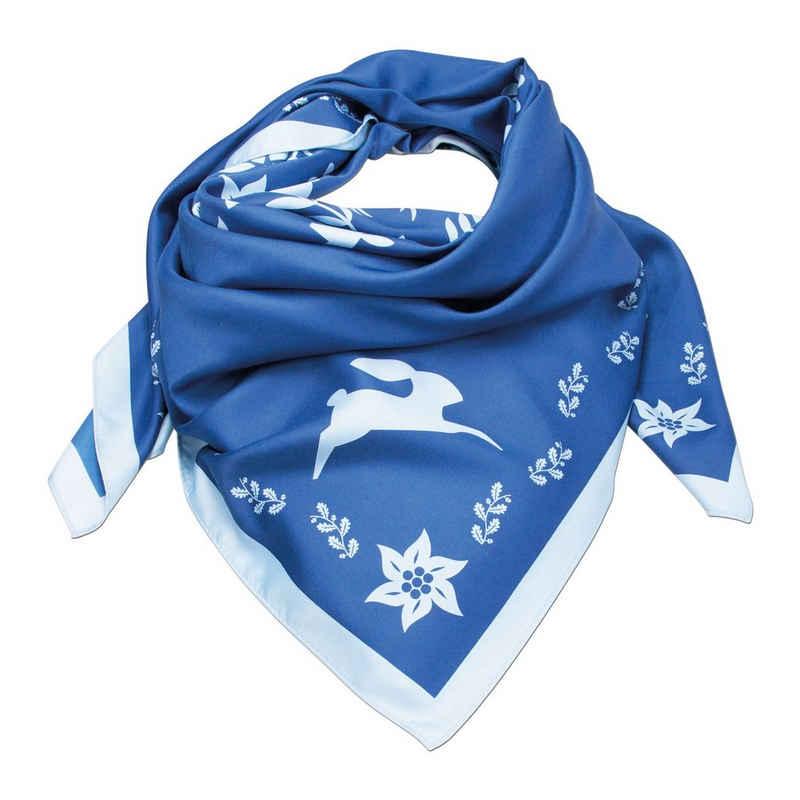 Alpenflüstern Halstuch »Trachtentuch Waldtiere (blau)«