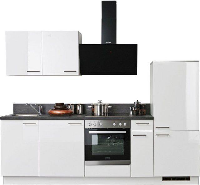 Einbauküchen - Express Küchen Küchenzeile »Scafa«, mit E Geräten, vormontiert und mit Soft Close Funktion, Stellbreite 260 cm  - Onlineshop OTTO