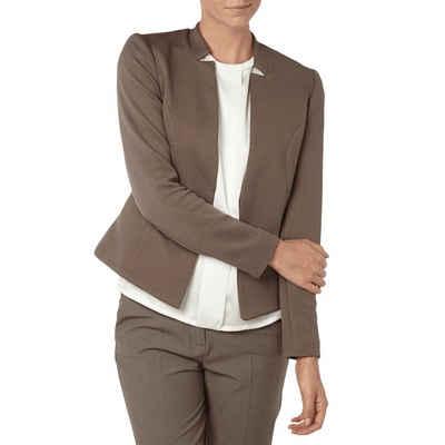 Comma Kurzblazer »COMMA Business-Blazer schicke Damen Kurz-Jacke mit Waffelstruktur Mode-Jacke Braun«