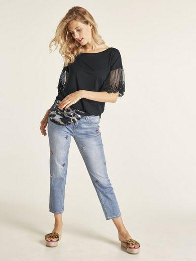 heine STYLE Jeans Calea mit Applikationen