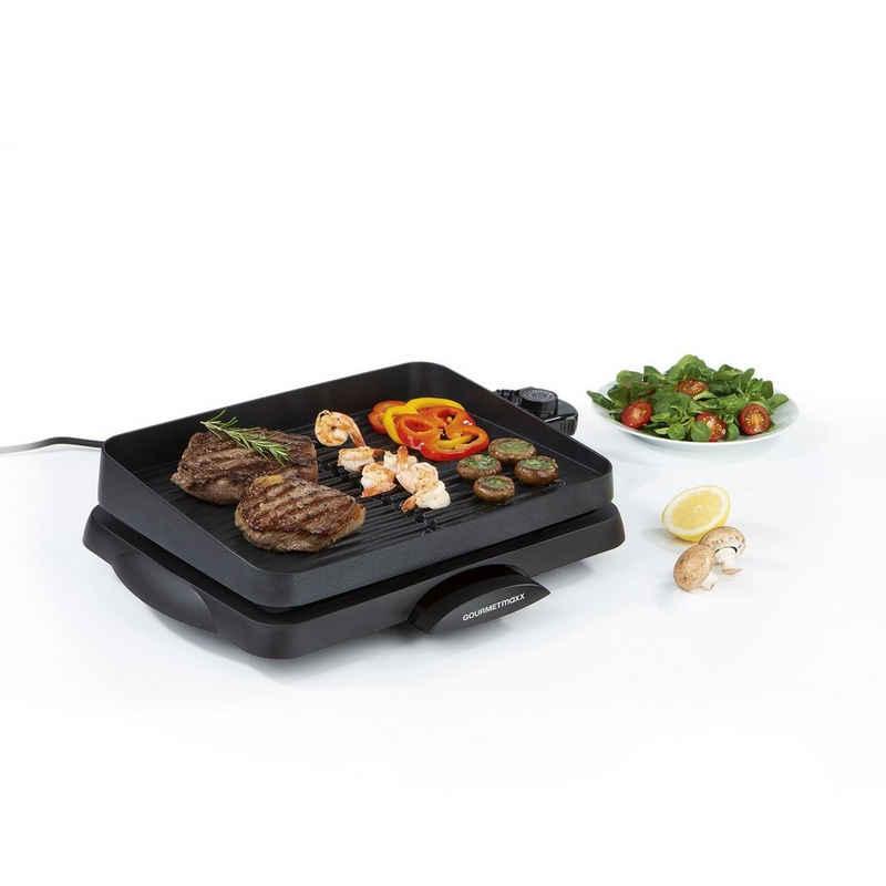 GOURMETmaxx Tischgrill, Beschichtete Aluguss-Grillfläche schwarz