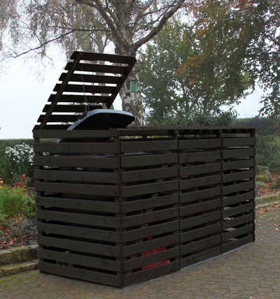 promadino Mülltonnenbox »Vario V«, für 3 x 240 l, anthrazit