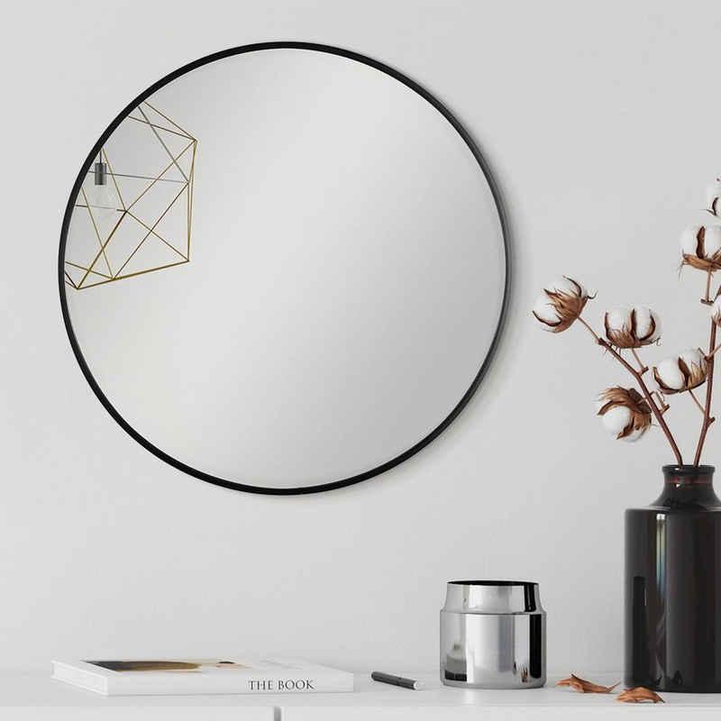 PHOTOLINI Spiegel »Stilvoller Spiegel mit schmalem Metallrahmen«