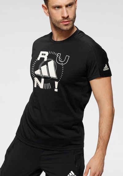 adidas Performance Laufshirt »RUN LOGO M 1«