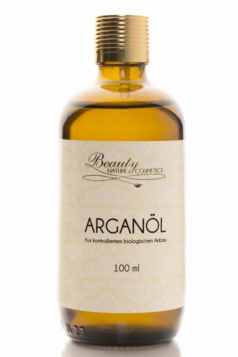 Beauty Nature Cosmetics Gesichts-Reinigungsöl »Arganöl«, 100% Aus biologischem Anbau, Parfümfrei, Kaltgepresst, Ohne Zusätze, 100 % reines Arganöl, Für alle Hauttypen