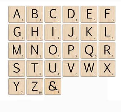 Wall-Art Holzbild »Scrabble Deko Buchstaben 15cm«, A (1 Stück)