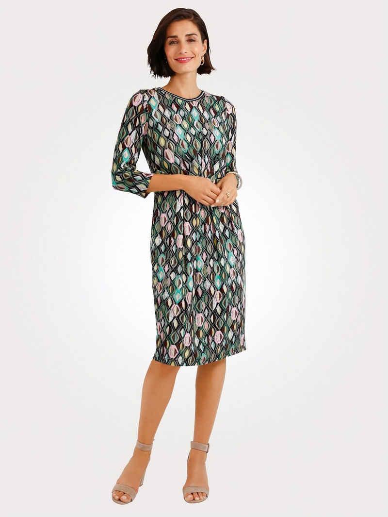 Mona Jerseykleid mit grafischem Druck