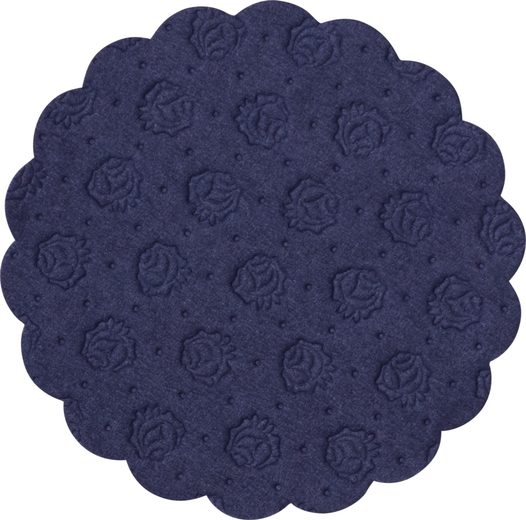 Demmler Tassenuntersetzer 500 blaue Tassendeckchen, Glasuntersetzer, 9cm, Made in Germany