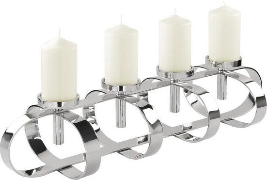 Fink Kerzenleuchter »GORDEN« (1 Stück), 4-flammig, Breite ca. 85 cm, Adventsleuchter