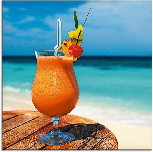 Artland Glasbild »Pokal mit Fruchtcocktail«, Getränke (1 Stück)