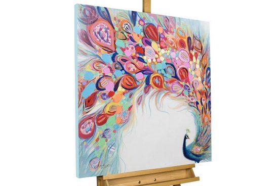 KUNSTLOFT Gemälde »Stolze Farbenpracht«, handgemaltes Bild auf Leinwand