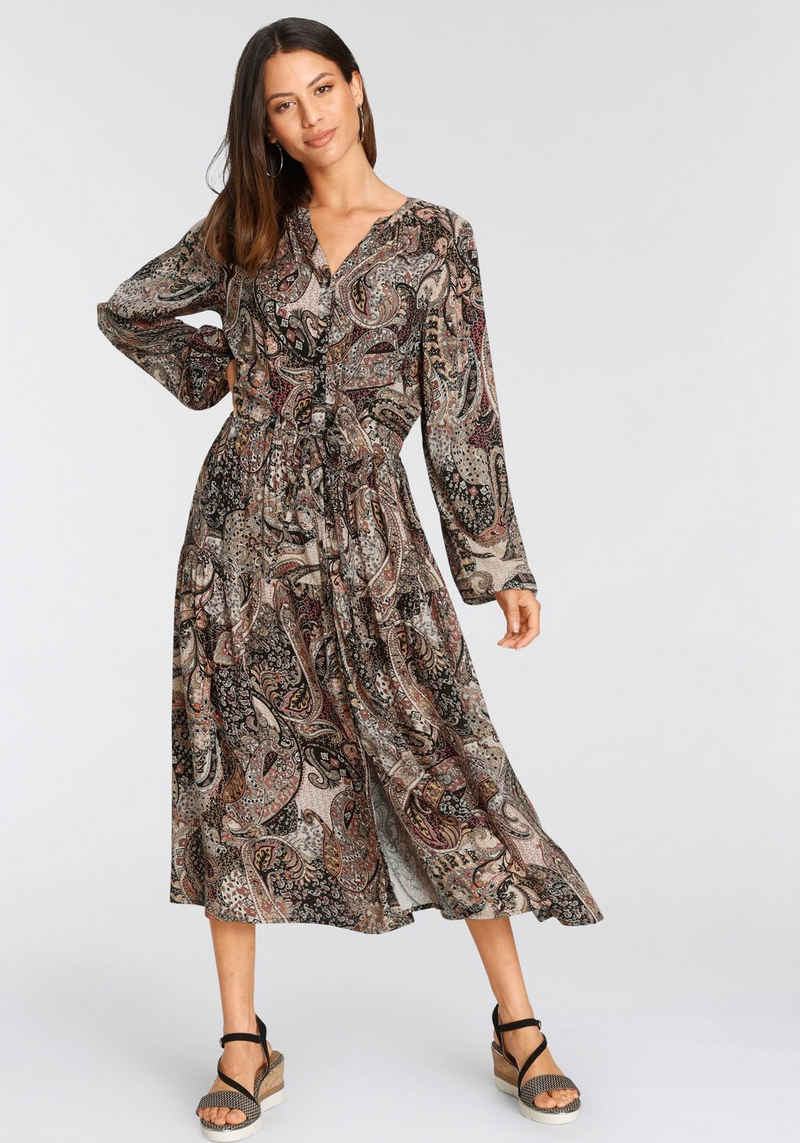 soyaconcept Midikleid »SC-TERESE3« mit Paisley Allovermuster