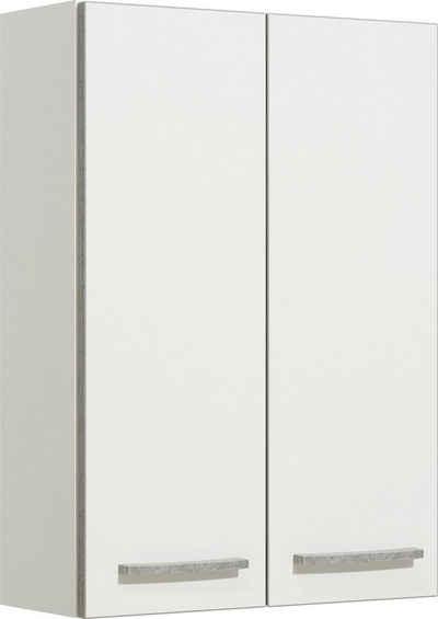 PELIPAL Hängeschrank »Quickset 953« Breite 50 cm, 2 Einlegeböden, Absetzung in Beton-Optik