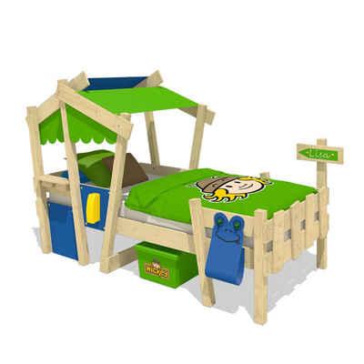 Wickey Kinderbett »Hausbett Crazy Candy - gelbe Plane, Holzbett 90 x 200 cm«