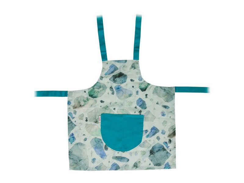 beties Kochschürze »trendige Designs«, LoftHaus Kinder Kochschürze aus 100% Baumwolle in Latzschürze verlässlicher Schutz und tolle Passform Schürze (Petrol)
