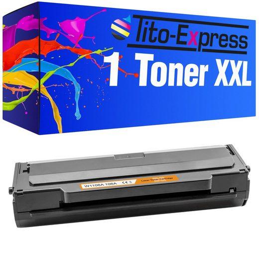 Tito-Express PlatinumSerie Tonerpatrone »Toner mit Chip ersetzt HP W1106A W1106 A W 1106A 106A 106 A«