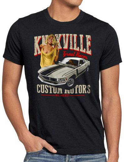 style3 Print-Shirt Herren T-Shirt Knoxville Mustang muscle car eleanor