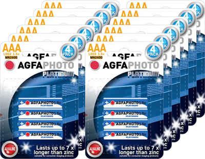 AgfaPhoto »Batterie Alkaline, Micro, AAA, LR03, 1.5V, Platinum, Karton (48-Pack)« Batterie