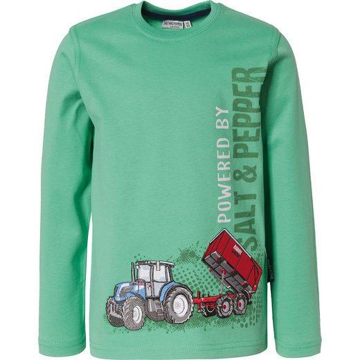 Salt & Pepper Langarmshirt für Jungen, Traktor