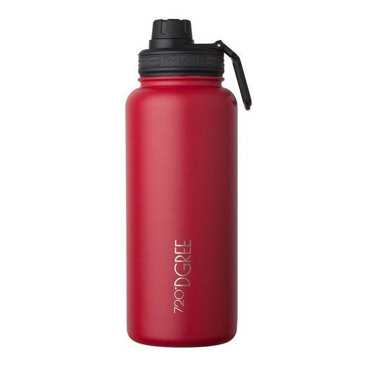 720°DGREE Trinkflasche »noLimit«, Trinkflasche, Wasserflasche, Isolierflasche, Thermo-Flasche 1200ml, Auslaufsicher, Sportflasche, für Schule, Sport, Fahrrad, Outdoor, Wandern, mit Sportdeckel und zusätzl. Drehdeckel