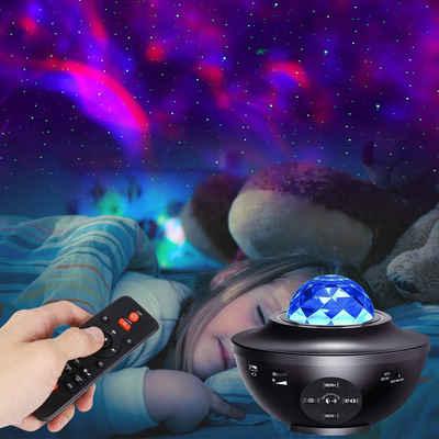 Rosnek LED Nachtlicht »LED Musik Projektor,Bluetooth,Starry Mond Stern, mit Fernbedienung USB,Sternenhimmel Lampe«, LED-Projektionslicht
