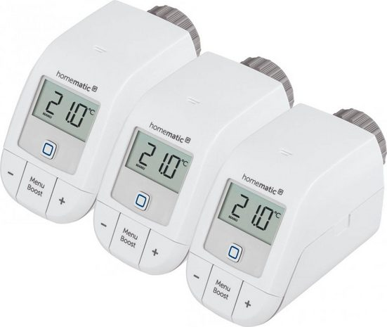 Homematic IP Heizkörperthermostat »Heizkörperthermostat - basic (3er Set)«, (Set, 3 St)