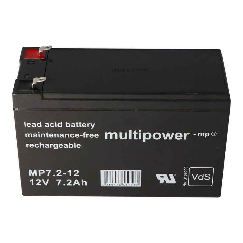 Multipower »Akku passend für Alarmanlage Abus Terxon SX AZ4000« Akku