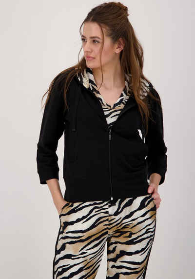 Monari Sweatshirt mit stylischer Kapuze im Tiger-Design