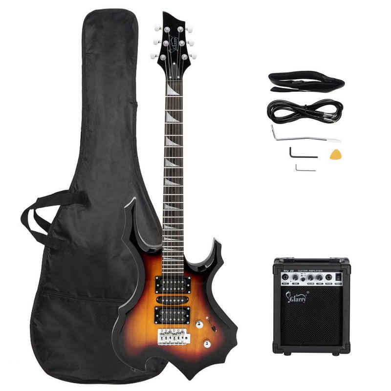 Glarry E-Gitarre, Elektrogitarre E Gitarre Tasche Band Kabel VerstÄrker 20W Im Set