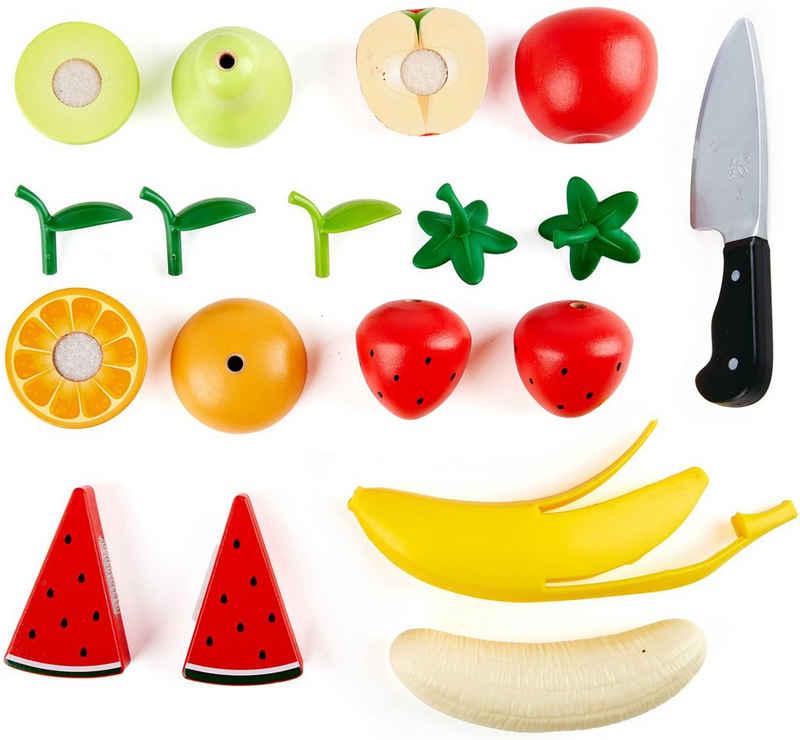 Hape Spiellebensmittel »Obst-Set«, aus Holz; für Kaufladen oder Kinderküche