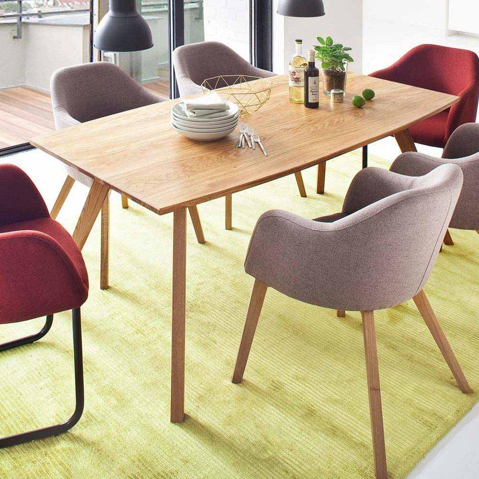 Pharao24 Tisch Henkul Aus Massivholz Mit Tischplatte In Bootsform Online Kaufen Otto