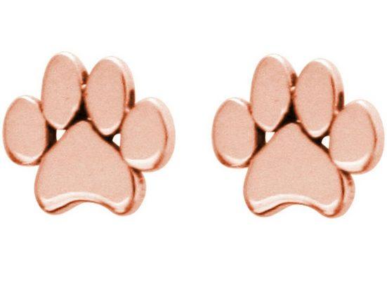 Gemshine Paar Ohrstecker »Pfoten Tatzen: Hund, Katze oder Haustier«, 925 Silber