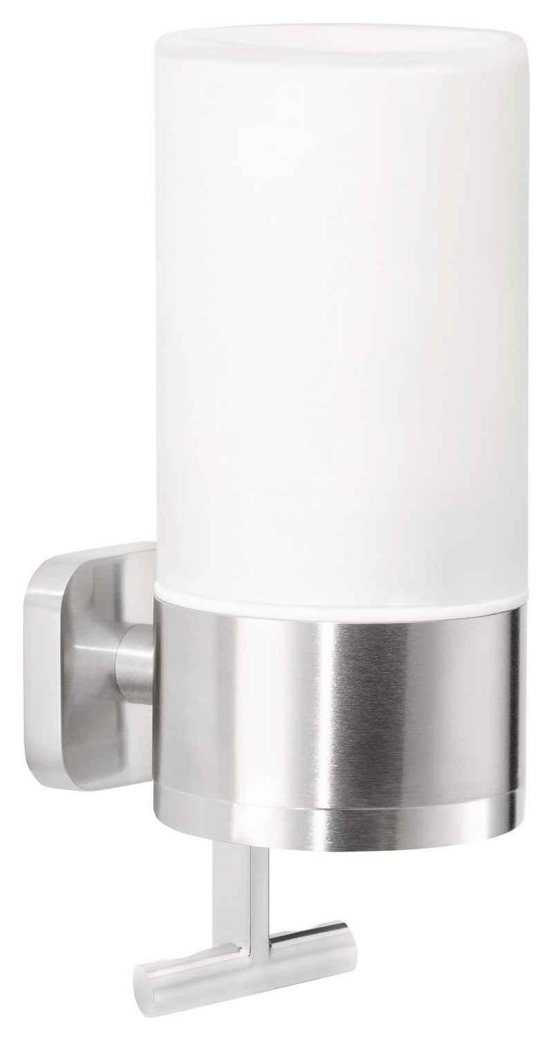 tesa Seifenspender »ESTEETIC Seifenspender (230ml), Edelstahloptik«, (1-tlg), Kein Bohren, Rostfrei