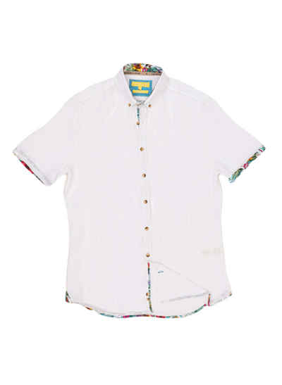 colours & sons Hemd »Colours & Sons Herren Hemd kurzarm mit Button-Down Kragen«