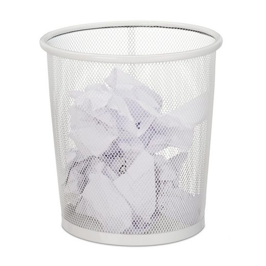 relaxdays Papierkorb »Papierkorb Drahtgeflecht«