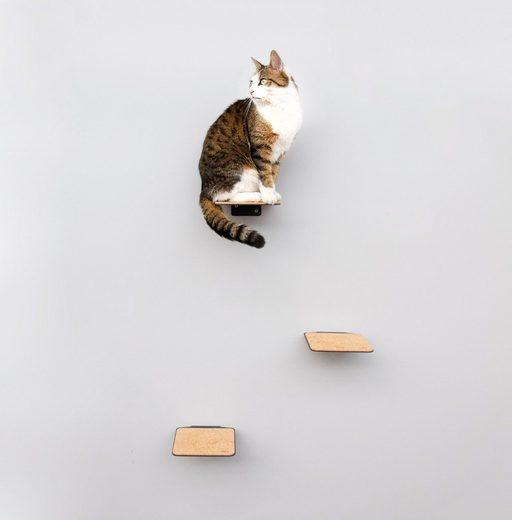 LucyBalu Katzen-Kletterwand »STEPS«, 3 Stk., BxT: je 18x18 cm, mit Korkauflage