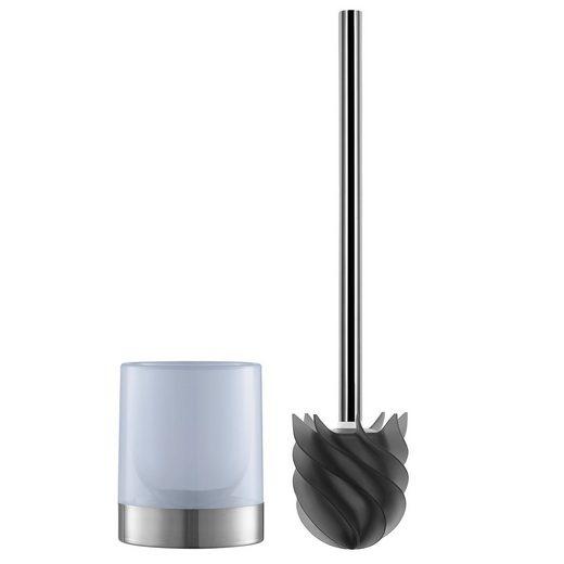 WC-Reinigungsbürste, LOOMAID, (2-tlg), WC-Bürste Silikonkopf anthrazit/milchig