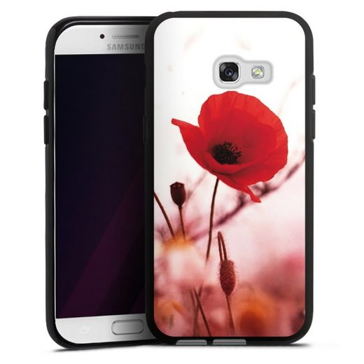 DeinDesign Handyhülle »Red Flowers« Samsung Galaxy A3 (2017), Hülle Blume Mohnblume Sommer