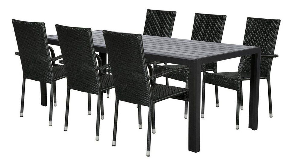 Ebuy24 Gartenmobelset Fall Gartenmobel Set 1 Tisch Und 6 Stuhle Online Kaufen Otto