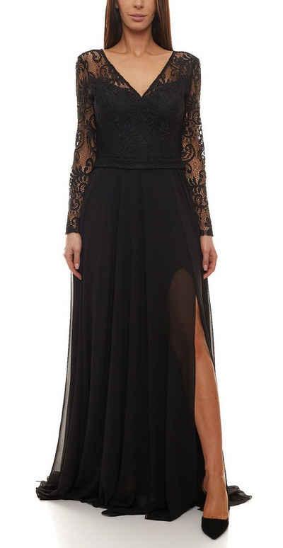 GUIDO MARIA KRETSCHMER Abendkleid »GUIDO MARIA KRETSCHMER Abend-Kleid raffiniertes Damen Ball-Kleid bodenlang Gala-Kleid Schwarz«