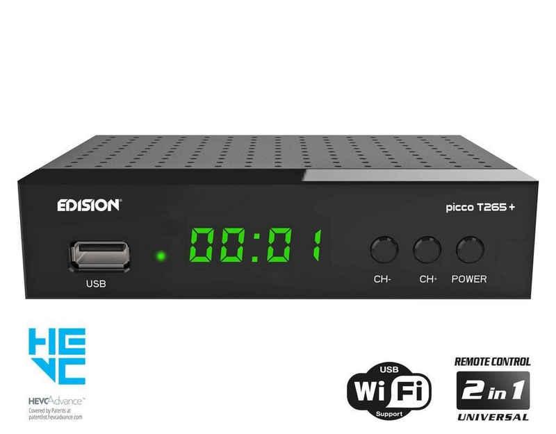 Edision »Edision picco T265+ DVB-T2/C Receiver schwarz« Kabel-Receiver