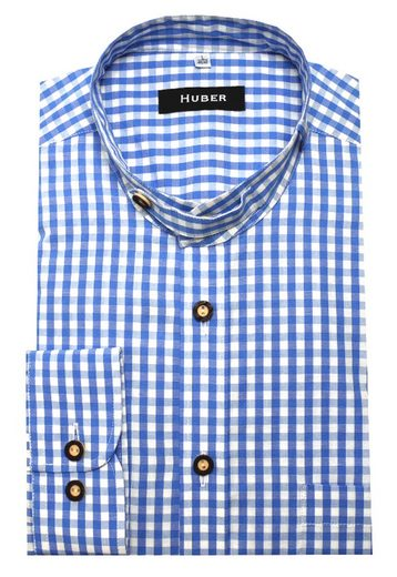 Huber Hemden Trachtenhemd »HU-0722« Stehkragen mit Stofflasche, Krempelarm, Regular Fit - bequeme Form, Made in EU