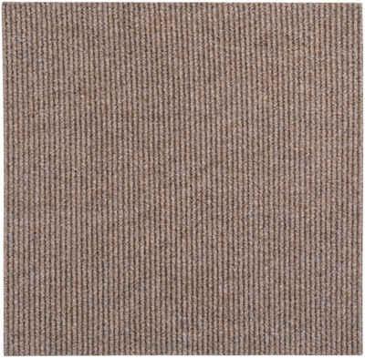 Teppichfliese »Rippe Nadelfilz«, Andiamo, quadratisch, Höhe 4 mm, 16 Stück (4 m), selbstklebend, robust & strapazierfähig