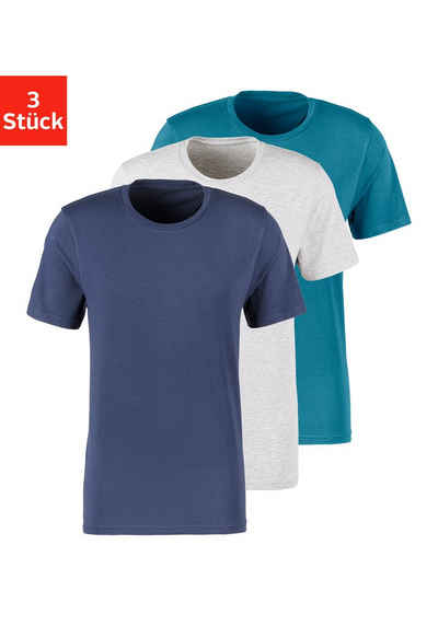 Bruno Banani T-Shirt (3er-Pack) mit Rundhals-Ausschnitt