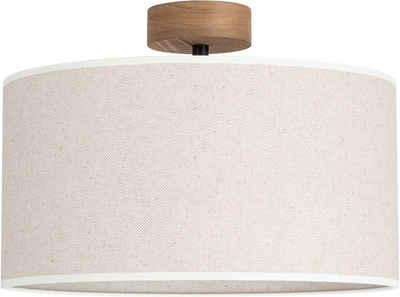 OTTO products Deckenleuchte »Emmo«, Hochwertiger Leinen-Baumwoll Lampenschirm, Naturprodukt mit FSC®-Zertifikat, geeignet für LM E27 - exklusive, Made in Europe